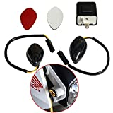 Perfect fit Honda Grom 2014-2017 Amber Flush 12 LED Turn Signals & 2 Pin Electronic Adjustable Flasher Relay Unit Pack of 2 (Amber & 2Pin Falsher)