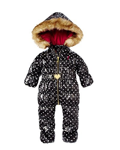 Juicy Couture Dot Snowsuit With Faux Fur Hood Baby Shower Gift (3-6 Month)