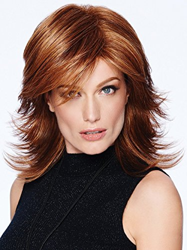 - Modern Flip Wig Color SS14/88 SHADED GOLDEN WHEAT - Hairdo Wigs Mid-Length Layered Shag Sweeping Fringe Tru2Life Heat Friendly Synthetic