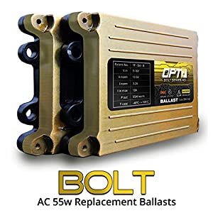 OPT7 Bolt AC 55w Replacement HID Power Ballasts Pair - 2 Units for Xenon Conversion Kits