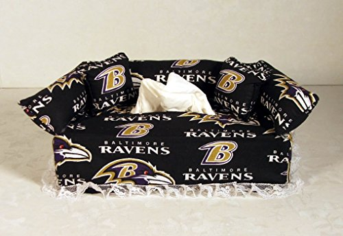 Ravens Baltimore Paper (Baltimore Ravens NFL Licensed fabric tissue box cover.)