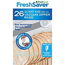 FoodSaver Freshsaver 26 Quart-sized and 20 Gallon-sized Vacuum Zipper Bags Bundle - BPA Free
