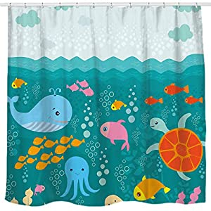 51gatRqtlFL._SS300_ 200+ Beach Shower Curtains and Nautical Shower Curtains