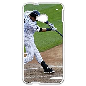 MLB&HTC One M7 White New York Yankees Gift Holiday Christmas Gifts cell phone cases clear phone cases protectivefashion cell phone cases HABC605585815