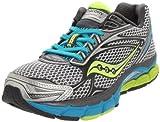 Saucony Women's Power Grid Triumph 9 Running Shoe,Silver/Grey/Citron,8 M US
