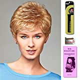 Ruby by Henry Margu, Wig Galaxy Hair Loss Booklet & Magic Wig Styling Comb/Metal Pick Combo (Bundle - 3 Items), Color Chosen: 29H