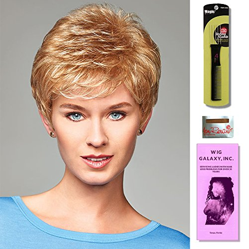 Ruby by Henry Margu, Wig Galaxy Hair Loss Booklet & Magic Wig Styling Comb/Metal Pick Combo (Bundle - 3 Items), Color Chosen: 29H by Henry Margu & Wig Galaxy