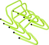 Set of 5 Adjustable Height (8'' and 12'' height adjustable) Speed Hurdles by Therapist's Choice