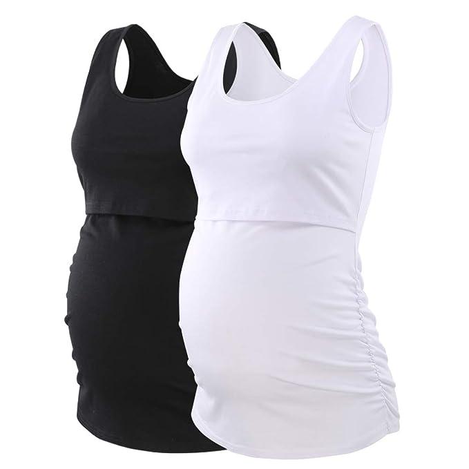 93d3075182652 CareGabi Womens Ultra Soft Sleeveless Maternity Nursing Cami Tank Tops  Breastfeeding Clothes at Amazon Women's Clothing store: