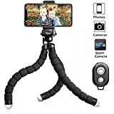 UBeesize Tripod S, Premium Phone Tripod, Flexible Tripod with Wireless Remote Shutter for iPhone & Android, Mini Tripod Stand Holder for Camera GoPro and Mobile Phone (Upgraded)