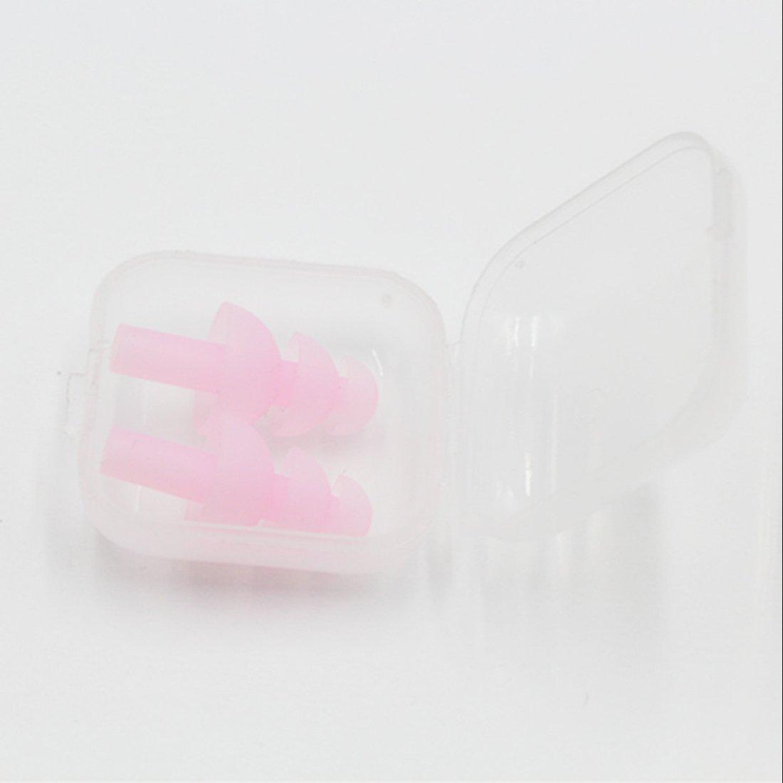 TOOGOO R 10 x Tapones de oidos con cable Anti-ruido enchufe de oido Viaje de proteccion Tapones de oidos