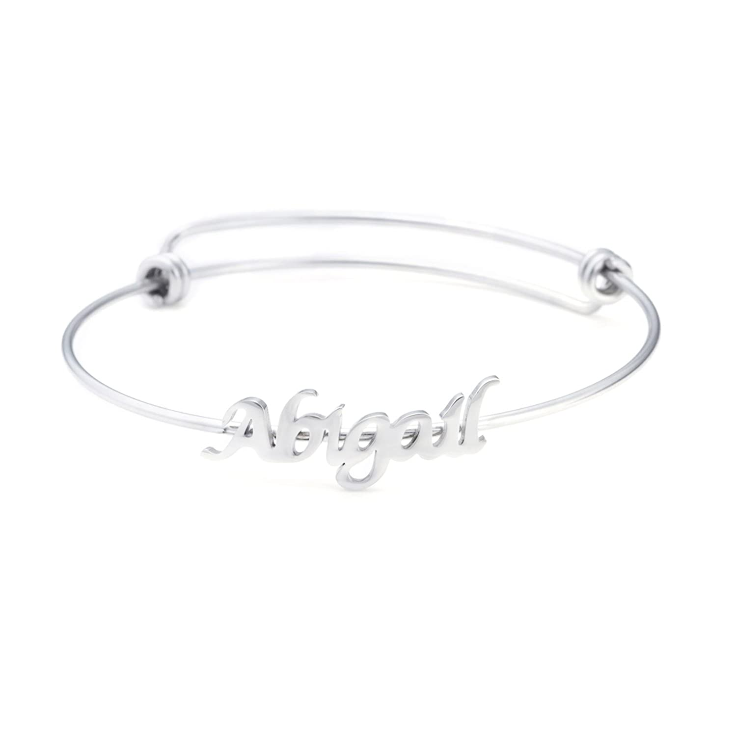 137642de151c3 Name Bangle for Teen Girls Personalized Name Bracelets Jewelry Gift for  Friends Women