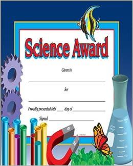 science award certificate award certificates school