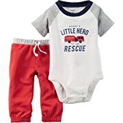 Carters Baby Boys 2-Piece Bodysuit & Pant Set Little Hero 6M