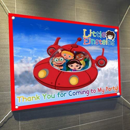 (Little Einsteins Large Vinyl Indoor or Outdoor Banner Sign Poster Backdrop, party favor decoration, 30