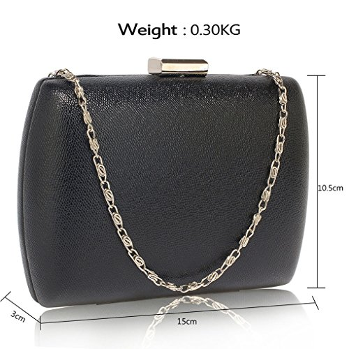 Party Evening Purse Dinner Black Hard Bag Out Clutch Evening Wedding Women's LeahWard Hard Case Handbags For Night Case IqFwS17