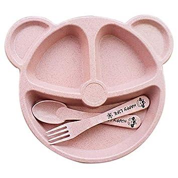 Bowls & Plates Food Tableware Cartoon Panda Dinnerware Set Anti-hot Training Bowl Spoon Kids Cups, Dishes & Utensils