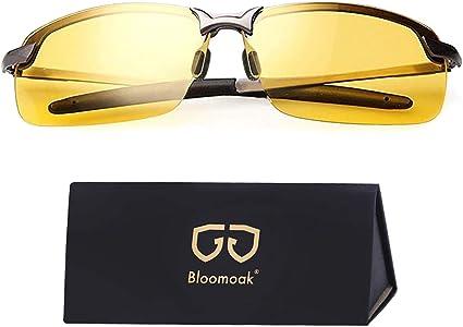 Nachtfahrbrille Fahren Nachtbrille Zum Autofahren Hd Halbrand Polarisiert Ultra Light Metall Nachtsichtbrille Sport Freizeit
