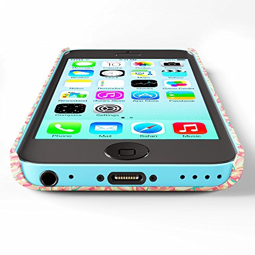 Koveru Back Cover Case for Apple iPhone 5C - Passion Fruit Paisley