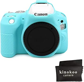 Black Techgo Canon 1300D Body Case Cover Soft Silicone Protective Accessory Camera Housing Camera Rubber Detachable Protection Camera Bag for Canon 1300D Digital Camera