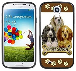 Samsung Galaxy S4 Cocker Spaniel negro parachoques Carcasa Funda iphone phonease para iphone
