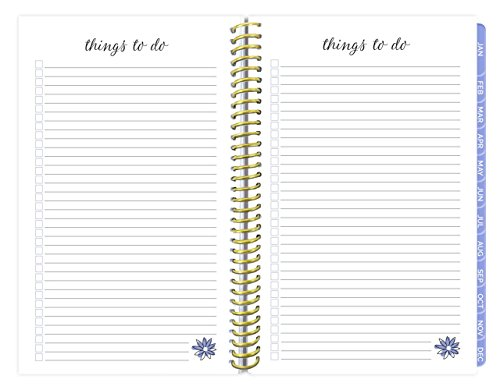 """bloom daily planners 2018 Calendar Year Daily Planner – Weekly and Monthly Datebook Organizer – January 2018 to December 2018 (6"""" x 8.25"""") - Peacock Feathers Photo #2"""