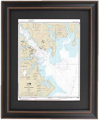 Amazon Com Patriot Gear Company Framed Nautical Chart 12283 Annapolis Harbor Poster Size Posters Prints