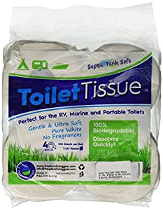 Amazon.com: Septic Tank Safe Toilet Tissue (2-Ply, 4 Rolls