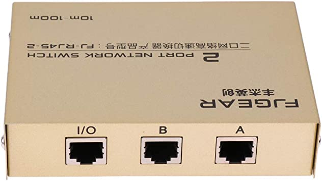 1x2 or 2x1 RJ45 Network Ethernet Manual AB Sharing Selector Switch Case
