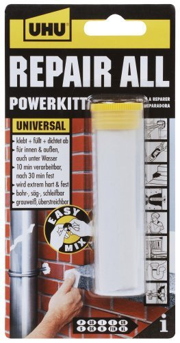 UHU EPOXY PUTTY REPAIR ALL EXTRA STRONG REPAIR ADHESIVE POWER KIT 60g by UHU