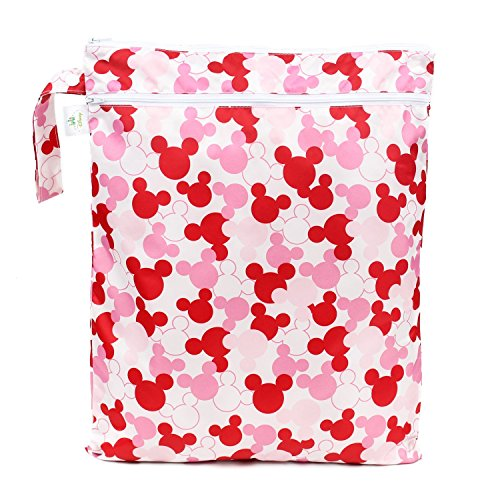 Bumkins Disney Baby Wet Dry Bag, Minnie Mouse Icon