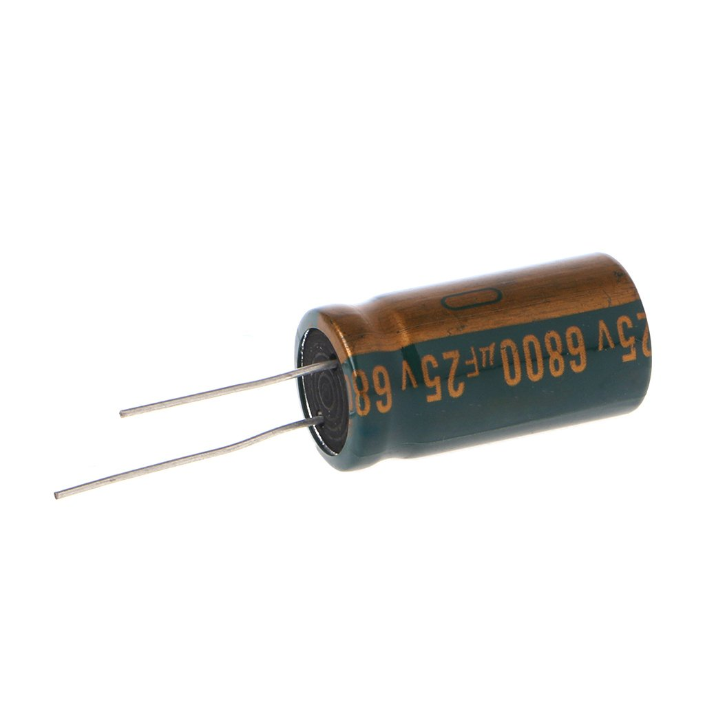 Suweqi 25V 6800uF Capacitance Electrolytic Capacitor Radial Capacitor High Frequency Low ESR