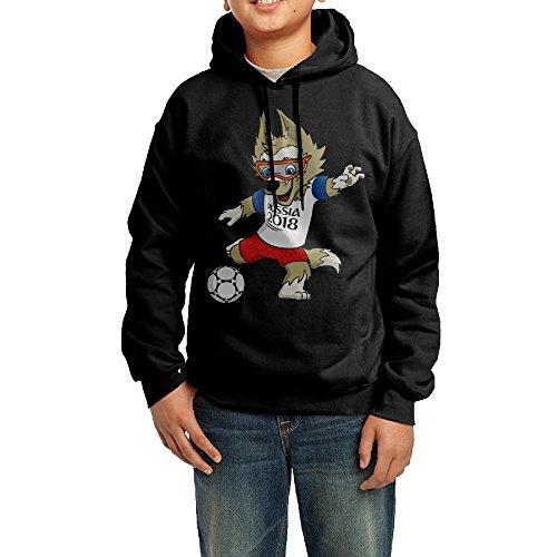 Youth Wolf Zabivaka Mascot 2018 World Cup Hooded Sweatshirt