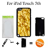 mac and cheese ipod 5 case - Mac n cheese Custom iPod 5/5th Generation Cases-Black-Plastic,Bundle 2in1 Comes with Custom Case/Universal Stylus Pen by innosub