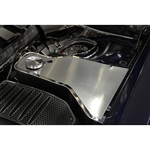 Upgrade Your Auto Brushed Stainless Steel Water Tank Top Plate for 11-15 Dodge Charger w/ACC ()