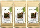 Zen no Ocha Japanese Green Tea Sencha Organic tea loose leaf 3.53oz 100g (Made in Japan) 3sets