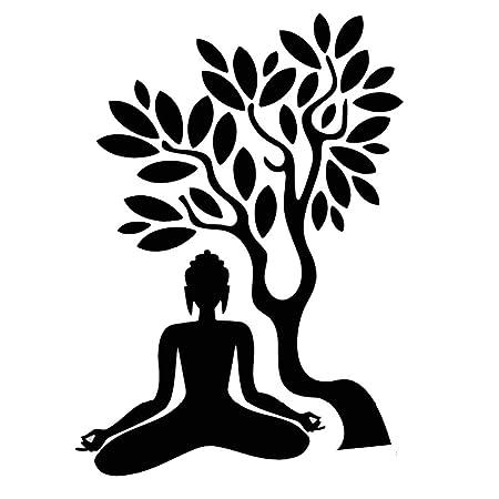 YAJU Pared Pegatina,Yoga Estudio Lotus árbol Follaje ...