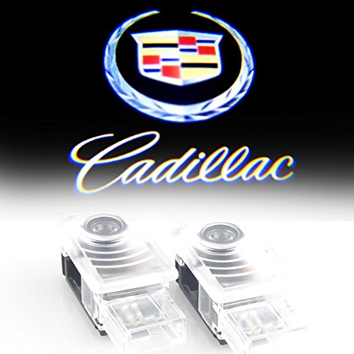 Bailongju cadillac Easy Installation Car Door LED Logo Projector Ghost Shadow Lights 2-pc Set