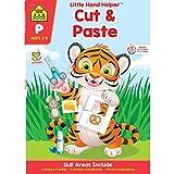 Books : SCHOOL ZONE - Preschool Practice Scissors Skills Workbook, Preschool and Kindergarten, Ages 3 through 5, Fine Motor Skills, Hand-Eye Coordination