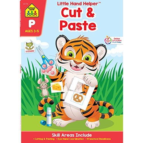 SCHOOL ZONE - Preschool Practice Scissors Skills Workbook, Preschool and Kindergarten, Ages 3 through 5, Fine Motor Skills, Hand-Eye Coordination