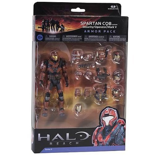 Halo Reach Series 5 6 Inch Scale Spartan CQB Custom & 3 Sets Of Armor
