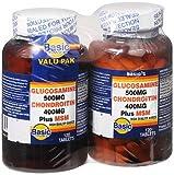 Basic Vitamins Glucosamine 500 mg Chondroitin 400 mg Plus MSM Tablets - 240 ct, Pack of 5