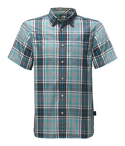 S/S Passport Shirt Mid Grey Plaid M (North Face Mens Single)