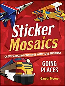 sticker mosaics going places create amazing paintings with 1774 stickers