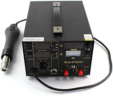 Estación de soldadura 3 en 1 853D LCD Digital Desoldador de aire caliente SMD Rework Station soldadura, Estación de retrabajo