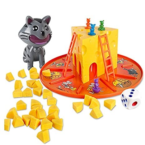 amazon com parent child interactive board game cat mouse cheese
