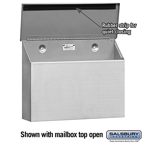 Salsbury Industries 4510  Standard Horizontal Style Mailbox, Stainless Steel by Salsbury Industries (Image #1)