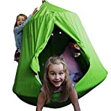 TopEva Waterproof Hanging Tree&Ceiling Hammock Tent Kids Sky Castle Paradise with Led Decoration Lights (Green)