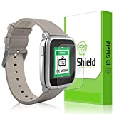 Pebble Time Steel Screen Protector, IQ Shield LiQuidSkin (6-Pack) Full Coverage Screen Protector for Pebble Time Steel HD Clear Anti-Bubble Film - with