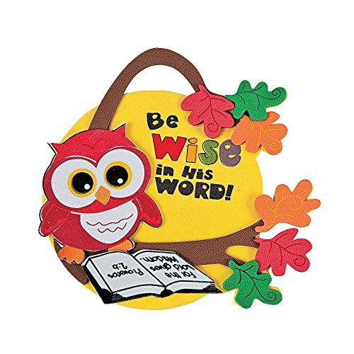 Fun Express - Inspirational Wise Owl Foam Ornament ck - Craft Kits - Ornament Craft Kits - Foam - 12 Pieces